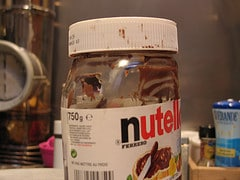 Pot de nutella vide