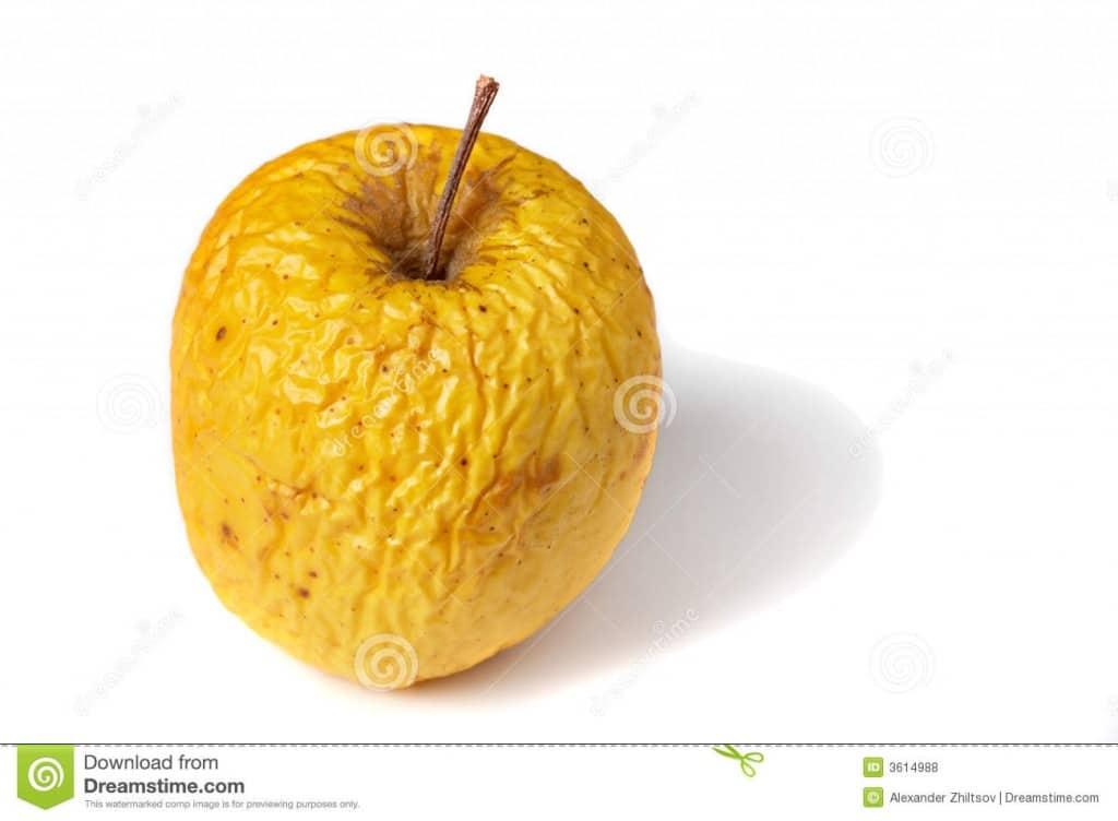 pomme desséchée