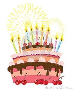 Dessin d'un gâteau d'anniversaire