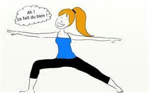 dessin d'une femme faisant du yoga