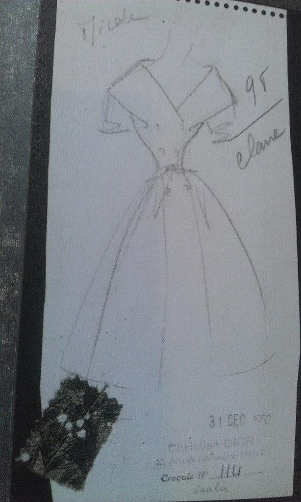 Croquis Christian Dior